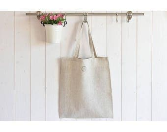 Tote bag, bag for racing, natural, elegant, light, resistant and ecological flax.
