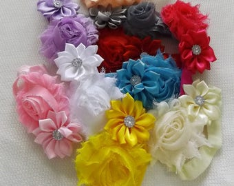 Baby Girl Toddler Infant Flower Headband..Choice of 10 colors ..
