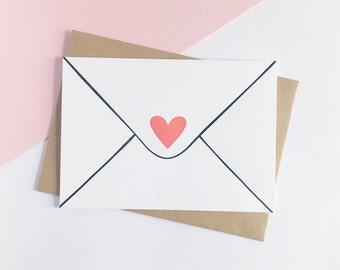 Love Letter – Letterpress Valentine Card