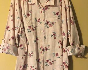 Tap & co Vintage Floral Pastel Pink shirt