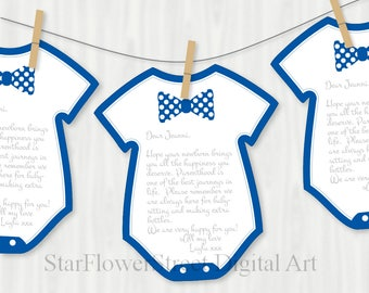 Little Man Baby Shower Decorations bow tie navy blue wishes for baby banner baby boy game advice printable washing line onepiece digital