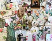 Valentine's Day Ephemera Pack*Green Inspiration Kit*A Tender Souvenir