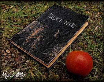 Death Note notebook with original pages printed on old parchment paper - TV series replica - customizable