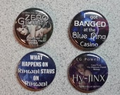 "100 Custom 1"" Buttons (up to 10 different graphics)"