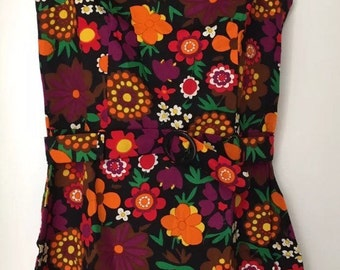 Vintage St Michael Junior Miss Mini Dress Britain Psychedelic Hippie Go Go 1960s-1970s