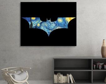Batman themed Starry Knight Fine Art [SIGNED]