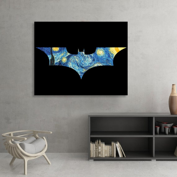 Batman themed Starry Knight Fine Art [SIGNED]