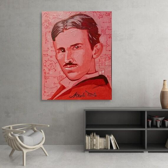 Tesla Acrylic Painting