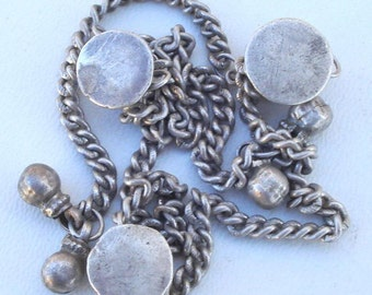 Ancient Antique Tribal Old Silver Button Set Rajasthan