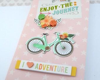 Enjoy the Journey: Embellished 3D Journal Notebook