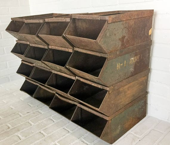 DIY craft organization metal bins