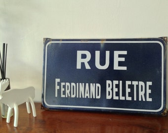 Vintage French street sign name