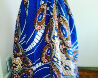 Vibrant African Batik Wax Print Maxi Skirt...Choose a Print