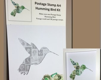 Humming Bird Postage Stamp Art Kit