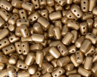 Bronze Pale Gold Rulla Beads,1416, Gold Rulla Bead, 16 grams, 3x5mm Rulla Bead, Pale Gold Rulla Bead, Rulla Bead, Gold Rulla, Pale Gold