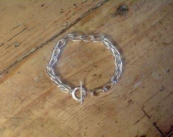 Chunky fluid  silver bracelet..Foxtail