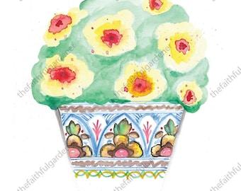 Colorful Detailed Pot Art Print