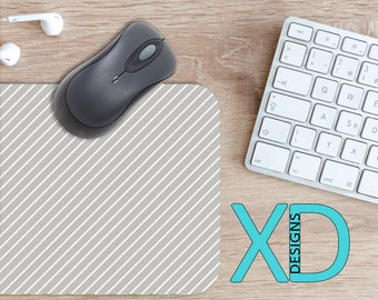 Lined Mouse Pad, Lined Mousepad, Pinstripe Rectangle Mouse Pad, Gray, Pinstripe Circle Mouse Pad, Lined Mat, Computer, Stripes, Simple
