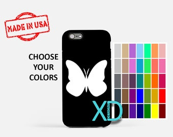 Simple Butterfly iPhone Case, Bug iPhone Case, Butterfly iPhone 8 Case, iPhone 6s Case, iPhone 7 Case, Phone Case, iPhone X Case, SE Case