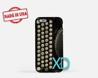 Retro Typewriter iPhone Case, Black iPhone Case, Vintage iPhone 8 Case, iPhone 6s Case, iPhone 7 Case, Phone Case, iPhone X Case, SE Case