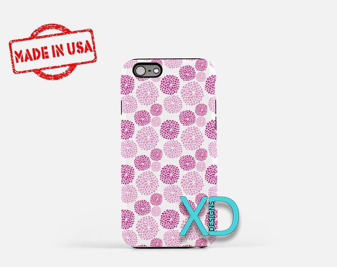 Pink Spring Phone Case, Pink Spring iPhone Case, Floral iPhone 7 Case, Pink, Floral iPhone 8 Case, Pink Spring Tough Case, Clear Case, Cute
