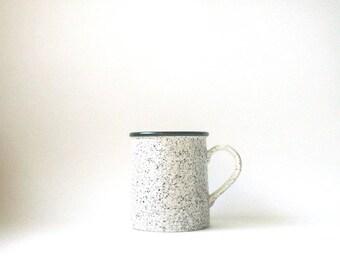 vintage coffee mug, japan mug, speckled mug, camping mug, ceramic coffee mug, coffee cup, speckled coffee cup, vintage coffee cup