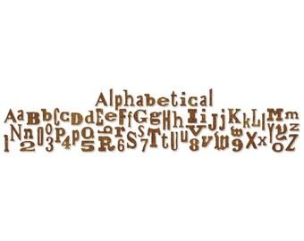 ALPHABETICAL - Sizzix Sizzlits Decorative Strip Die By Tim Holtz