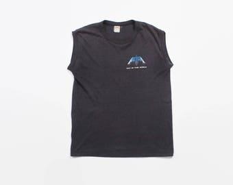 Vintage 80s PETRA Muscle T-SHIRT / 1980s Christian Rock Faded Sleeveless Tank Concert Tour Tee Shirt Tshirt