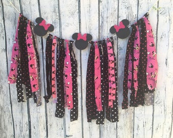 Minnie Mouse Fabric Buntinf