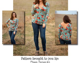 MamaClaire Two-Way Dolman Top & Tunic PDF Sewing Pattern Sizes