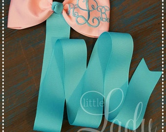 Hair-bow holder-monogrammed hair-bow holders-personalized hair-bow holder-you choose your color-monogrammed bow organizer-girls bow holder--