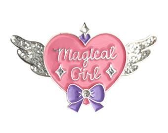 Magical Girl Soft Enamel Glitter Lapel Pin