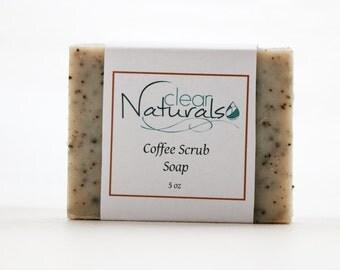 Coffee Scrub Soap, Natural Soap, Essential Oil Soap