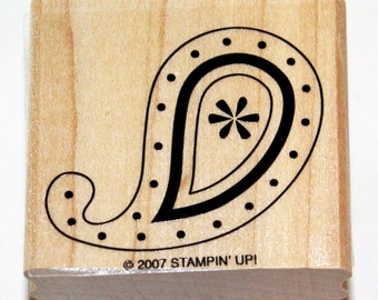 Paisley Design Rubber Stamp retired from Stampin Up