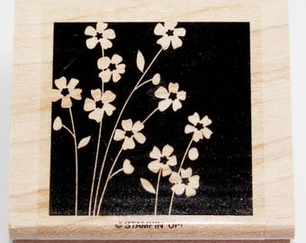 Shadow Stamp Flower Garden Rubber Stamp retired from Stampin Up