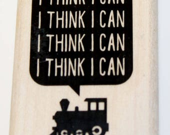 I Think I Can  I Think I Can Train Rubber Stamp Retired from Stampin Up