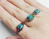 Turquoise Jasper Ring, Turquoise Ring, Jasper Ring, Gold, Silver, Copper, Gemstone Ring