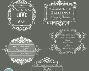 ON SALE INSTANT Download - Holidays. Christmas Overlays, Words Overlays vol.2