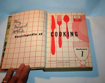 "Vintage Classic Cookbook 1956 ""Encyclopedia of Cooking"" / Volume 1!  by Mary Margaret McBride"