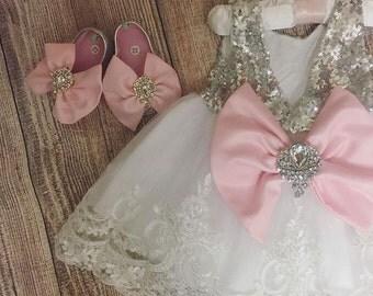 Pageant Dress | Flower Girl Dress | Wedding Dress | Bridal Dress | Easter Dress | Lace Dress | Pink Dress | White Dress | Toddler Dress |