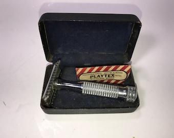 Vintage Segal One Piece Safety Razor 1 Blade Original Case