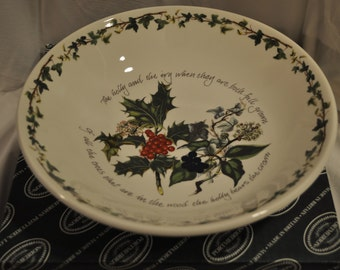 Holly & Ivy Round Serving Bowl