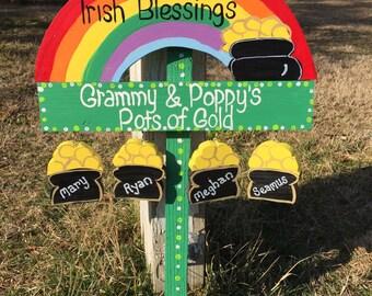 Saint Patrick's Day sign lawn ornament yard stake