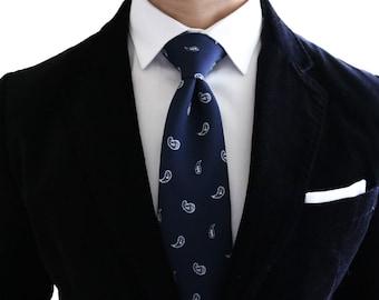 Blue Paisley Tie / Blue Tie/ Office Ties/ Men's Neckties/ Luxury Neckwear/Wedding ties / gifts for men