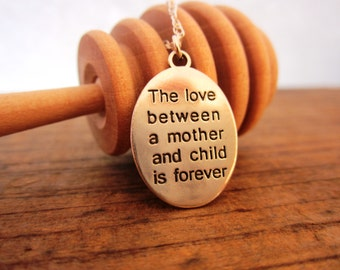 Pure Sterling Silver Mothers Love Pendant