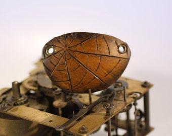 steampunk leather eye patch , spiderweb