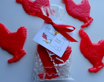 10 Chicken Party Soap Favors, Birthdays, Special Occasions, Social Gatherings