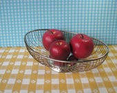 Raimond Silverplate Basket - Oval Bread / Fruit Basket - Double Wire - Footed - Mid Century Serving 1960's