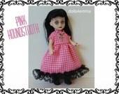 Living Dead Doll Goth Clothes - Baby-Doll Dress, Black Socks and Cross Jewelry Set - Handmade Custom Fashion - by dolls4emma