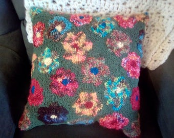 Rug Hooked Cushion